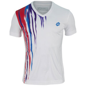 LOTTO MENS CAST TENNIS TEE WHITE