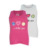 LUCKY IN LOVE Girls` Peace Love Tennis Tee