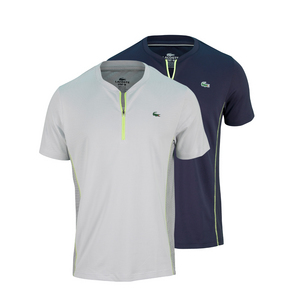 LACOSTE MENS ULTRA DRY TEXTURED TENNIS TEE