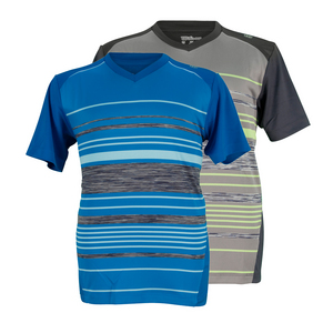 WILSON BOYS SPECIALIST STRIPE V NECK TENNIS TOP
