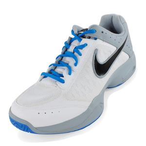 Men`s Air Cage Court Shoes White and Light Magnet Gray