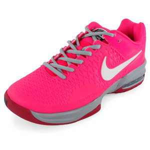 NIKE WOMENS AIR MAX CAGE TENNIS SHOES PK/GY