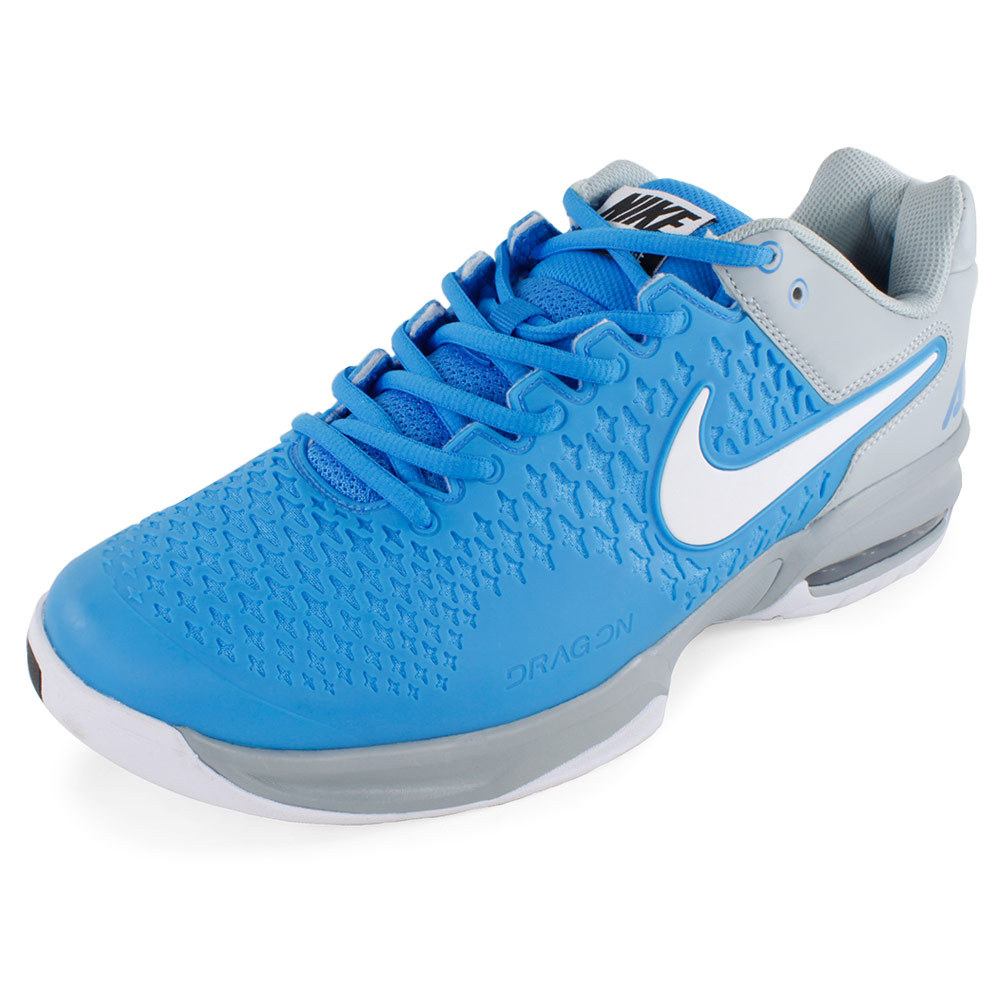 reputable site bcccf 5fe08 ... unisex  NIKE NIKE Men s Air Max Cage Tennis Shoes Photo Blue And Light  Magnet Gray ...