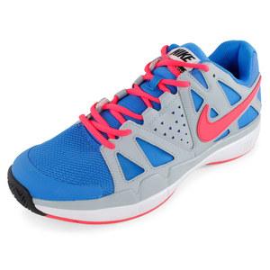 Men`s Air Vapor Advantage Tennis Shoes Photo Blue and Light Magnet Gray