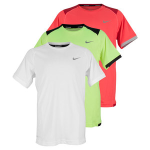 NIKE BOYS MILER SHORT SLEEVE RUNNING CREW
