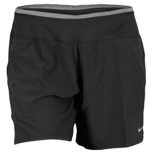 NIKE WOMENS 6 IN STRETCH WVN RIVAL RUN SHORT