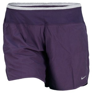 NIKE WOMENS 6 IN STH WVN RIVAL RUN SHORT PURP
