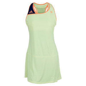 adidas WOMENS RG ON COURT TENNIS DRESS GLOW