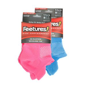 FEETURES HIGH PERFORMANCE LT CUSHN NO SHOW SOCKS
