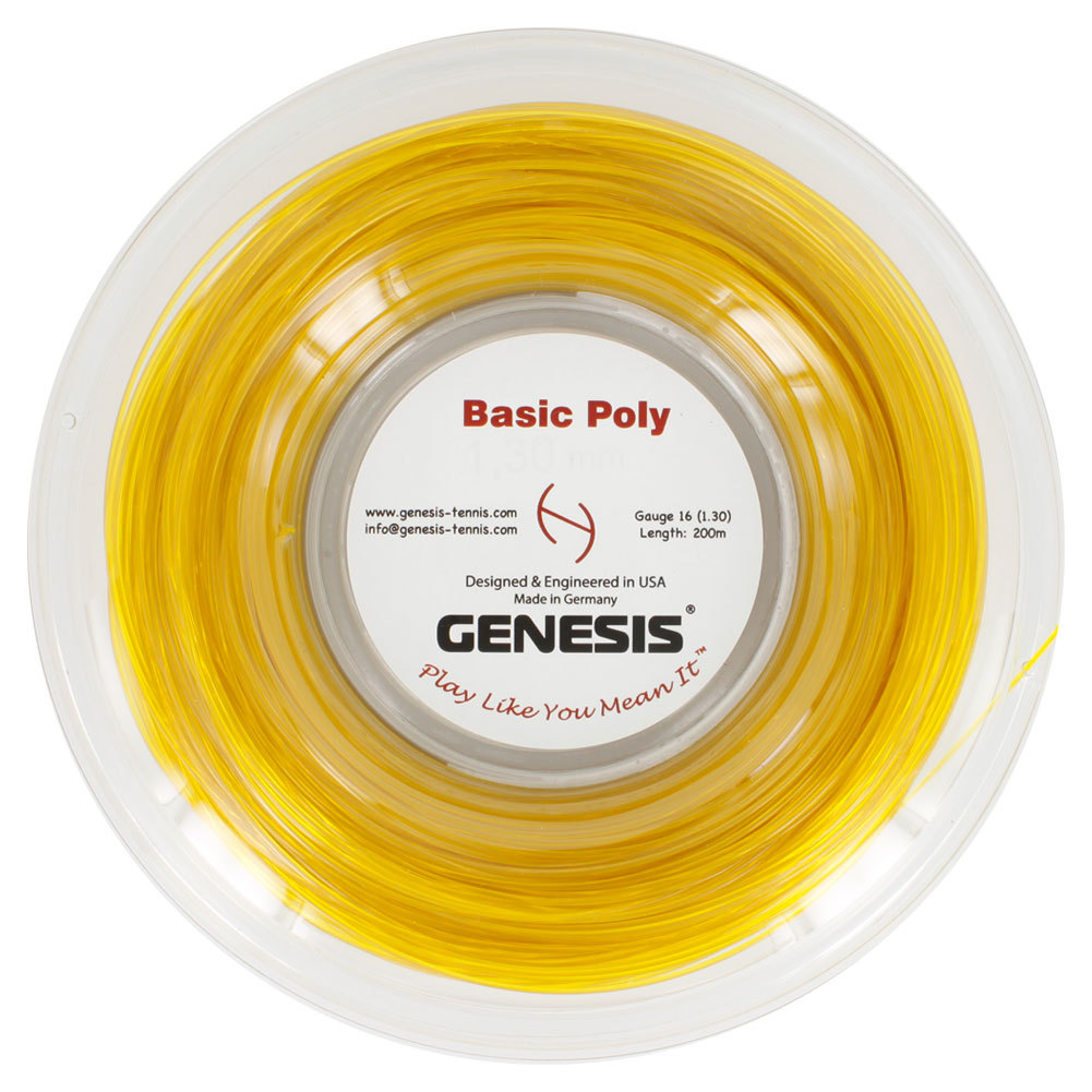 Basic Poly Tennis String Reel Gold