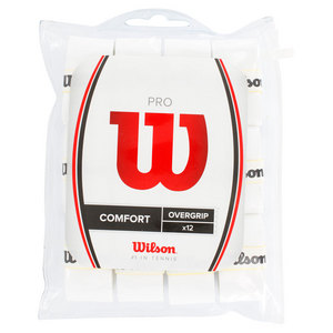 WILSON PRO OVERGRIP TENNIS GRIP 12 PACK WHITE