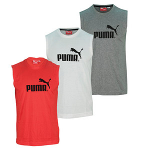 PUMA MENS LARGE LOGO SLEEVELESS TEE