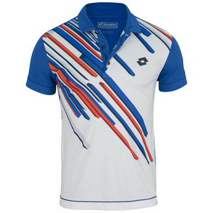 LOTTO MENS SLADE TENNIS POLO MALDIVE/WHITE