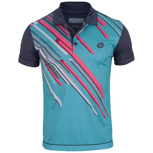 LOTTO MENS SLADE TENNIS POLO ASTER/CAPRI