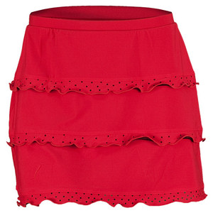 ELIZA AUDLEY WOMENS TRIPLE LASER TENNIS SKORT RED