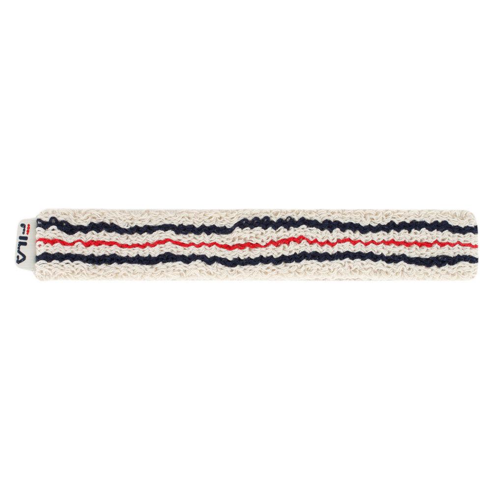 Retro Tennis Headband Features of the Fila Retro Tennis Headband include Soft absorbent cotton fabricationSpandexNylon blend for stretch125 widthRetro style