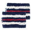 Retro Tennis Wristbands 410_PEACOAT
