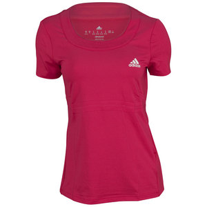 adidas WOMENS ALL PREMIUM TEE VIVID BERRY
