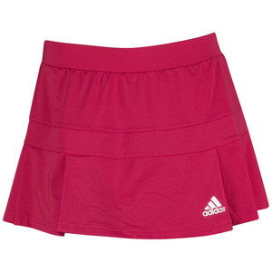 adidas WOMENS ALL PREMIUM SKORT VIVID BERRY