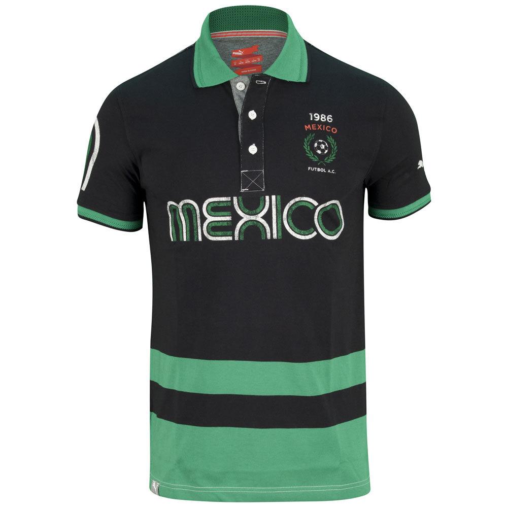Men's Futbol Mexico Polo Black