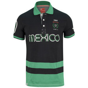 PUMA MENS FUTBOL MEXICO POLO BLACK