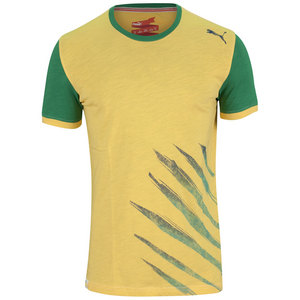 PUMA MENS PITCH BRAZIL TEE TEAM YELLOW