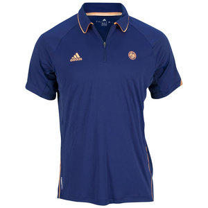 adidas MENS RG ON COURT TENNIS POLO NIGHT BLUE