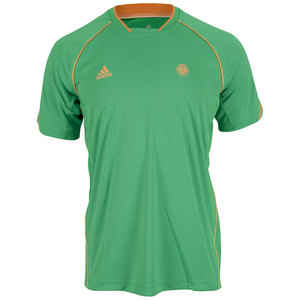 adidas MENS RG ON COURT TEE VIVID GREEN