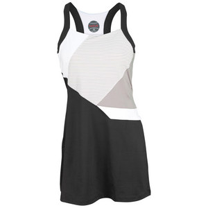 BOLLE WOMENS MANHATTAN TENNIS DRESS BLACK/WH