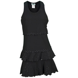 ELIZA AUDLEY WOMENS MATCH POINT TENNIS DRESS BLACK