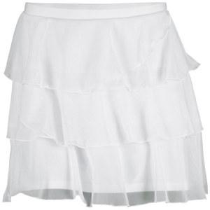 ELIZA AUDLEY WOMENS TRIPLE MESH TENNIS SKORT WHITE
