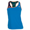 Women`s Roland Garros On Court Tennis Tank Solar Blue by ADIDAS