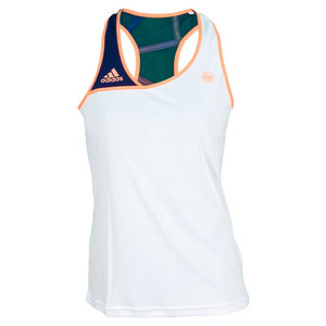 adidas WOMENS RG ON COURT TANK WHITE