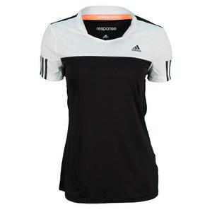 adidas WOMENS RESPONSE TEE BLACK/WHITE