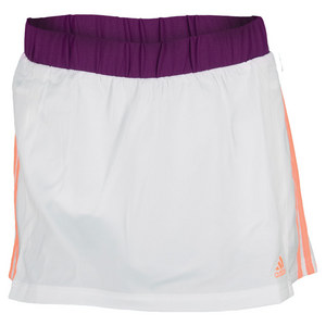 adidas WOMENS RESPONSE 13 IN SKORT WH/GL PURP