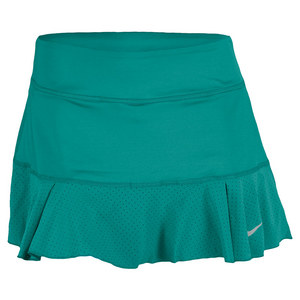 NIKE WOMENS FLIRTY KNIT TENNIS SKIRT TURBO GN