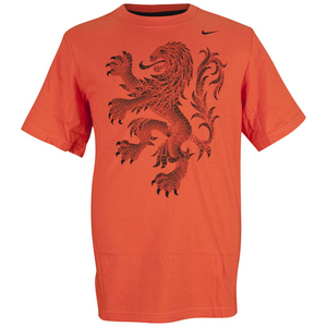 NIKE BOYS DUTCH TEAM TD SOCCER TEE TM ORANGE