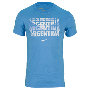 NIKE MENS ARGENTINA CORE TYPE TEE UNIVER BLUE