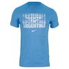 NIKE Men`s Argentina Core Type Tee University Blue