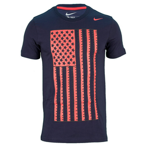 NIKE MENS USA CORE PLUS TEE OBSIDIAN