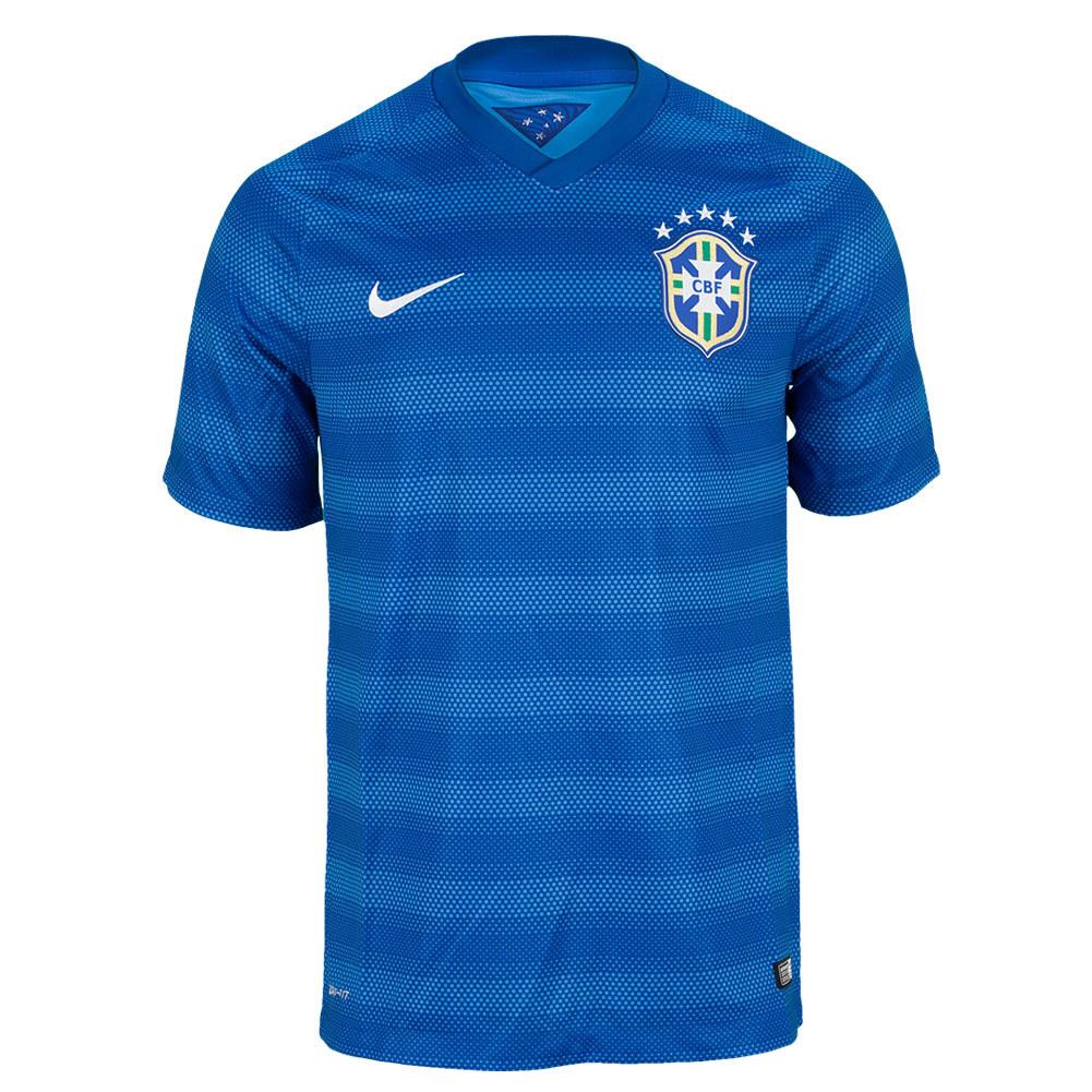 Men's Brasil Short Sleeve Away Stadium Jersey Varsity Royal