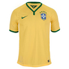 Boys` Brasil Short Sleeve Home Stadium Jersey Varsity Maize by NIKE