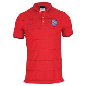 NIKE MENS LEAGUE USA AUTH POLO UNIVERSITY RED