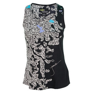 JAMIE SADOCK WOMENS GRAPHIC TENNIS TANK JET