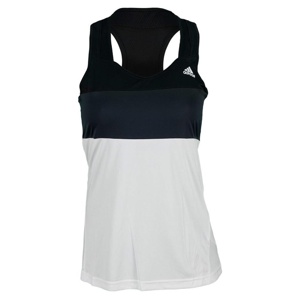 Women's Response Tennis Tank White And Black