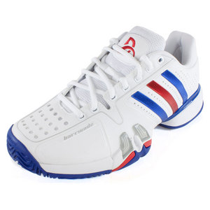 adidas MENS NOVAK D BARRICADE 7 SHOES WH/ROYAL