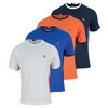 FILA Men`s Heritage Stitched Shoulder Tennis Crew