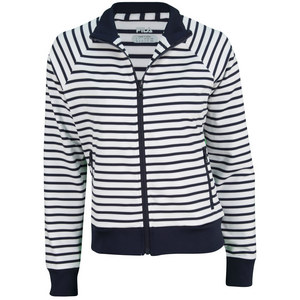 FILA WOMENS HERITAGE F TENNIS JACKET WH/PCOAT
