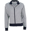 FILA Women`s Heritage F Tennis Jacket White and Peacoat
