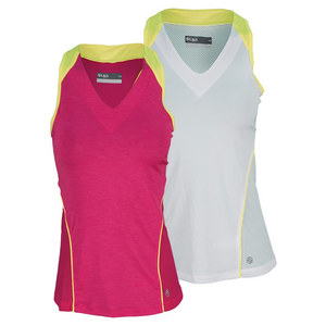 LIJA WOMENS CONTRAST PANEL TENNIS TANK